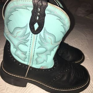 Justin Boots Shoes - Gemma Light Blue Justin Girls Boot SiZE 8